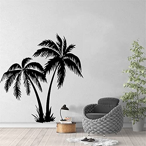 Albero di cocco vinile adesivo da parete carta da parati palma adesivo camera da letto Wall Sticker arte murale A2 40x43cm