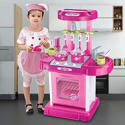 YLLN Kids Kitchen Playset, 2 in1 Pretend...