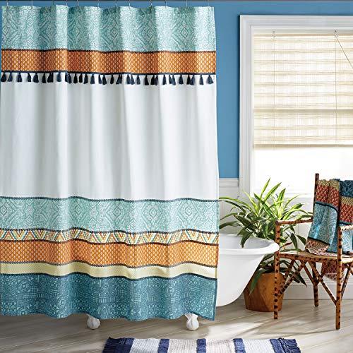 Bedeck 1951 Akello Shower Curtain, 72W x 72L, Multicolor