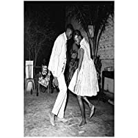 Suuyar クラシックダンスアーティスト白黒写真マリックシディベウォールアートポスターとプリントリビングルームのキャンバスに印刷-20X30インチX1フレームレス