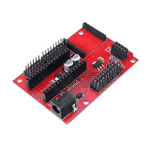 OperationCwrl 5 Pieces Nano Shield Atmega328P IO Sensor Wireless Expansion Board for Arduino