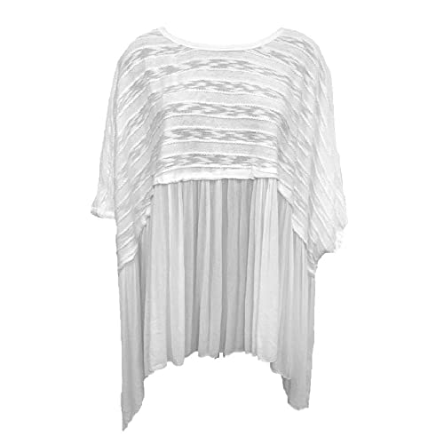 Fabulous ladies italian design oversized fine knit top with chain SALE RRP £59