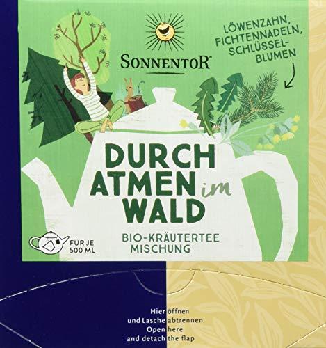 Sonnentor Durchatmen im Wald Bio Kräutertee, Kannenbeutel, 2er Pack (2 x 21,6 g)