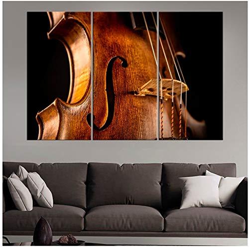 Grote viool hedendaagse canvas schilderijen muziek muurkunst kamerdecoratie poster decoratie wandschilderij woonkamer wandschilderij 40x60x3 stuks cm geen lijst