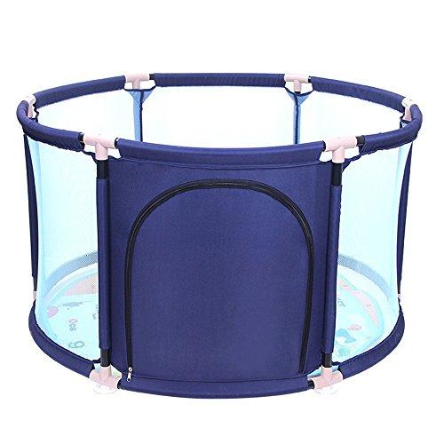 Barrière de lit Bébé Jouer Jeu Clôture Enfant Round Guardrail Bébé Rampant Clôture de Sécurité Facile à Transporter (Couleur : Blue, Taille : 65 * 109cm)