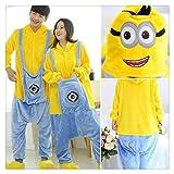 LUOSI Pijama Camisón Mujer Establece Pijamas Pijamas Animal Lindo Kits de Punto de Invierno del camisón Pijama de Dormir Homewear (Color : Minions, Size : S)