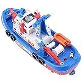 Boot elektrische Rettungsfeuer Boot Spielzeug Wasserspritzen Schiffsmodell mit Sound Boot Spielzeug für Kinder 06.03