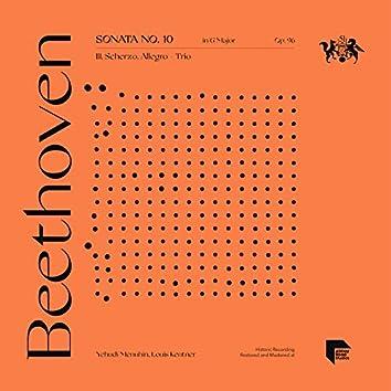 Beethoven: Sonata No. 10 in G Major, Op. 96: III. Scherzo. Allegro - Trio