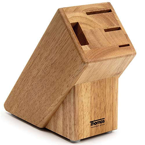 Thomas Rosenthal Group® Messerblock Holz unbestückt Messerhalter 3 Messer Schere Buchenholz Block