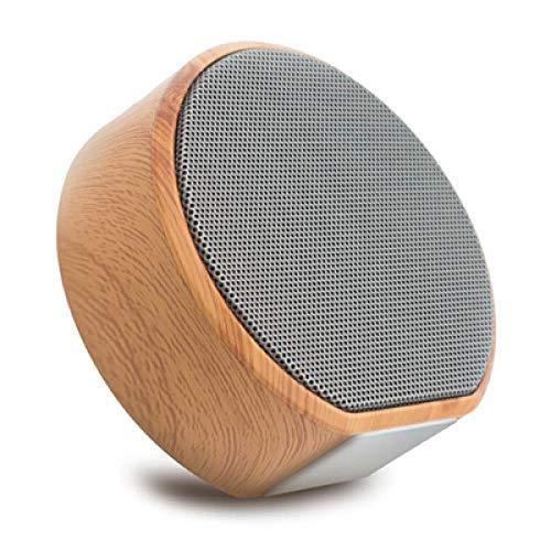 Wood Grain Bluetooth Speaker Portable Subwoofer Audio Gift Stereo Wireless Loudspeaker Sound System Support Usb A60 Portable Speaker, black