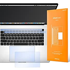 UPPERCASE GhostCover Touch Premium Touch Bar and Trackpad Protector with Matte Finish, Compatible with 2016- 2019… 8 The clear, anti-glare film acts as a shield against minor scratches while remaining virtually invisible. Precisely cut for MacBook Pros to deliver an easy-to-apply and seamless finish. Designed to be highly responsive, the cover features superior touch sensitivity.