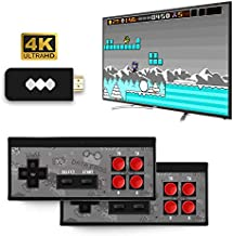 Leoie 4K HDMI Video Game Console Mini Retro Console Wireless Controller HDMI Output Dual Players