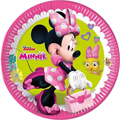 Piatti Minnie felice - 8 pezzi