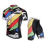 Yajun Verano Hombres Ciclismo Maillot Mountain Bike Sportswear 3D Gel Acolchado Bib Shorts Bicicleta...