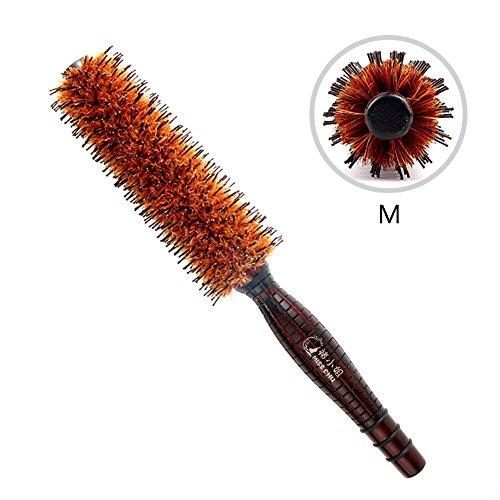 Pinceaux à cheveux naturels Pinceaux à cheveux rondes Poignées à bois, à sécher à cheveux, à coiffage, à curling, à ajouter du volume de cheveux , medium