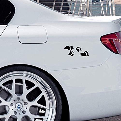 adesivo da parete Adesivi per auto Orso Traccia Zampa Adesivo per auto Creativo Animale Zampa Adesivo per carrozzeria per auto Adesivo per vetri laptop