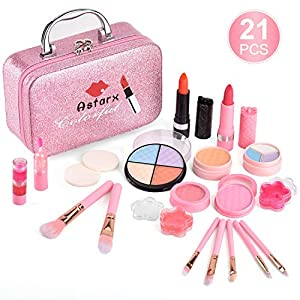 Beauty Shopping AstarX Makeup Toys for Kids,Real Washable Cosmetics Safe & Non-Toxic Beauty Set for Party Game Halloween Christmas…