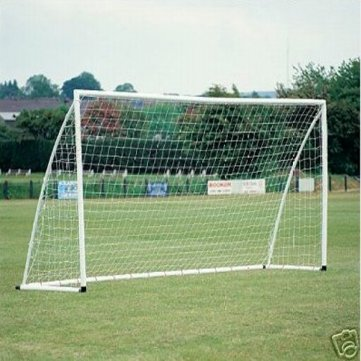 Man Friday 8x6ft Soccer Goal Post Nets 2.4x1.8m for Poly Samba Frames Sports