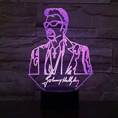 jiushixw 3D acryl nachtlampje met afstandsbediening van kleur veranderende tafellamp digitale camera digitale camera digitale camera back-up lamp Line