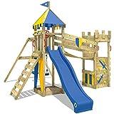 WICKEY Ritterburg Smart Hero Spielturm Kletterturm mit Schaukel und Rutsche, Wackelbrücke,...