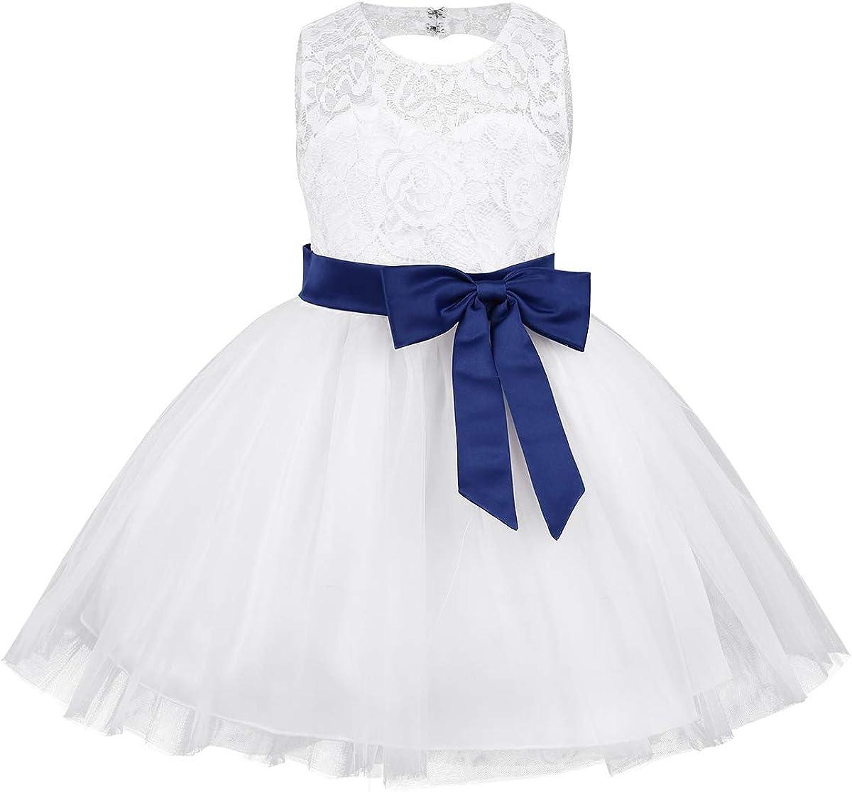 Freebily Baby Girls Superlatite Lace Dress Directly managed store B Bowknot Princess Flower Dresses