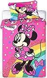 Disney Minnie Parure de couette bébé 100 × 135 cm, 40 × 60 cm Minnie107