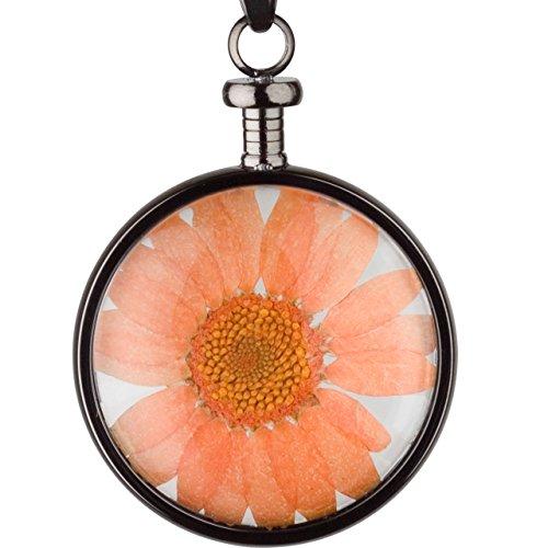 blumenkind Blumen-Anhänger Grau/Orange BL01MGROR