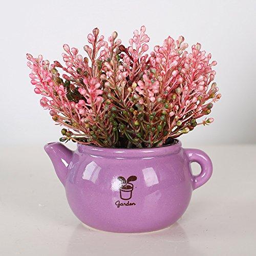 LLPXCC Faux Fleurs Accueil création florale table à manger salle de séjour simple moderne Européenne fleurs décoratives les plantes en pot fleurs en plastique rose