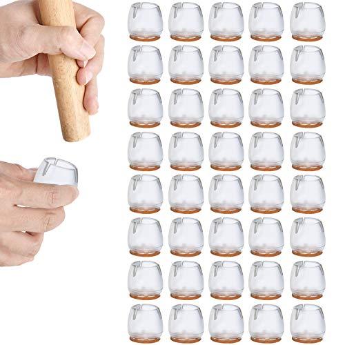 Protector Patas Sillas,almohadilla de silicona para sillas,pie de silla,almohadilla de silicona para muebles,Prevent Floor Scratches, Reduce Noise,tamaño 12-16mm(40 piezas)