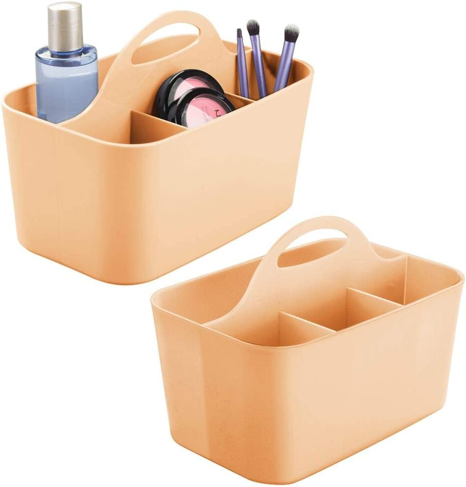 mDesign Plastic Makeup New Orleans Mall Storage Organizer Divided Discount mail order Ba - Tote Caddy