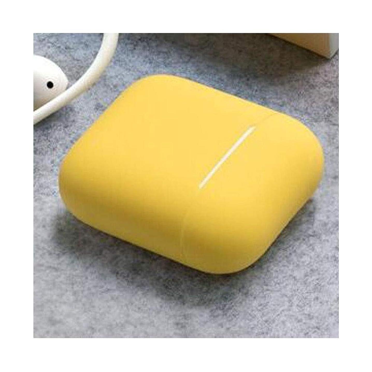 膨張するハロウィン群衆Airpodイヤホンセット、AirpodソフトシリコンワイヤレスBluetoothヘッドセット収納、1/2世代ユニバーサル、パウダー/ブルー/グリーン/イエロー (Color : Yellow)