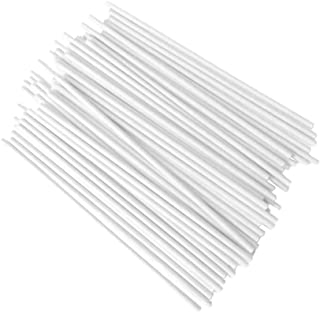 100 Pcs DIY Lollipop Lolly Sugar-loaf Chocolate Cake Pops Paper Sticks Craft Stick White