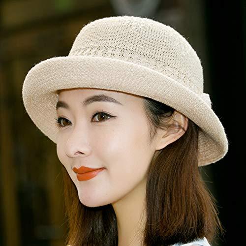 Sombrero literario de Moda Coreana, Sombrero de Pescador de Punto Femenino, Sombrero de Copa britnico, Sombrero de Lavabo Salvaje Informal de Moda Coreana