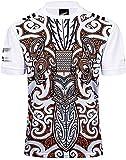 Maillot de rugby pour homme - Hauts et shorts de Nouvelle-Zélande - Maori - All Blacks Fan Mesh - T-shirt d'été - 18-19 NRL - Maillot de rugby - Manches courtes - Pour homme M blanc