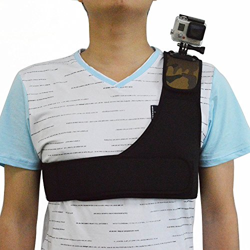 Wildoor - Correa de hombro ajustable para cinturón de pecho para GoPro Hero...