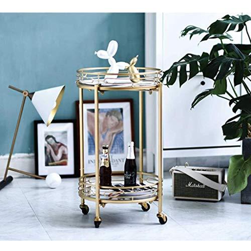 L-Life Tische Beistelltische Ende Tabellen Couchtisch Metall-Double-Layer-Removable Regal Sofa Tisch Beistelltisch Kleiner Teetisch (Size : 38CM)