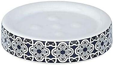 WENKO 23202100 mydelniczka Murcia, mydelniczka, ceramika, 11 x 2,5 x 11 cm, niebieska