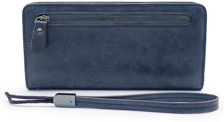 Girls Purse Women's Wallet Mobile Phone Bag Highend MultiFunctional Vintage LargeCapacity Handheld Lady Purse (color   E)