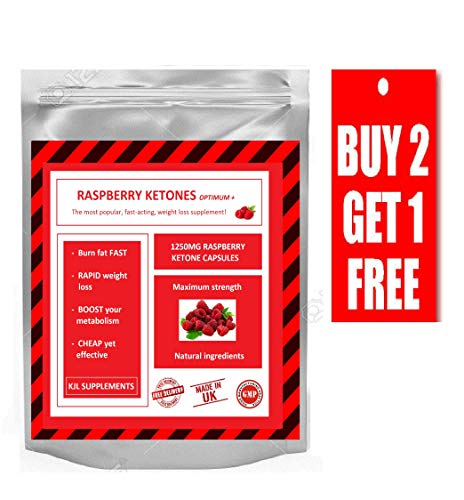 Raspberry Ketones Max Strength Wild Weight Loss - Top Results Diet Pills 60 Capsules