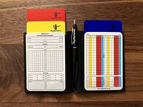 MyReferee Schiedsrichterset Mini Handball inkl. Spielnotizkarten, Kugelschreiber, Disziplinarkarten   Schiedsrichter-Set   Schiri
