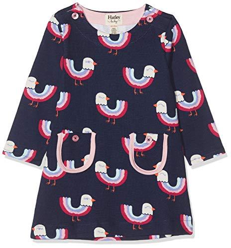 Hatley Baby-Mädchen Mod Dress Kleid, Blau (Rainbow Birds 400), 9-12 Monate (Herstellergröße: 9M-12M)