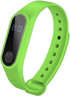 M2 Heart Rate Wristband, Waterproof Fitness Tracker Smart Watch Smart Bracelet (Green)