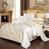 FGKLU Bettwäsche Set, Bettwäsche Bettbezug Set 3 Teilig (1 Bettbezüge, 1 Spannbettlaken, 2 Kissenbezug), Ultra Weich und Pflegeleicht, Einfaches Bettwäscheset,005,SuperKing