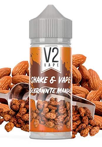 V2 Vape Shake and Vape hochdosiertes Premium Aroma-Konzentrat zum selber mischen mit Base. Zum direkt dampfen - ohne Reifezeit 20ml 0mg nikotinfrei gebrannte Mandel