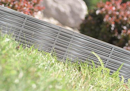 Rasenkante Gartenpalisade Beeteinfassung Beetumrandung 3,9m Weidenzaun-Optik von rg-vertrieb (Grau)