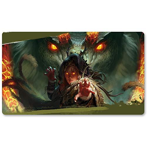Dragon Whisperer – Tapis de jeu MTG pour jeu de société, tapis de jeu de taille 60 x 35 cm, tapis de souris pour Yugioh, Pokémon Magic The Gathering