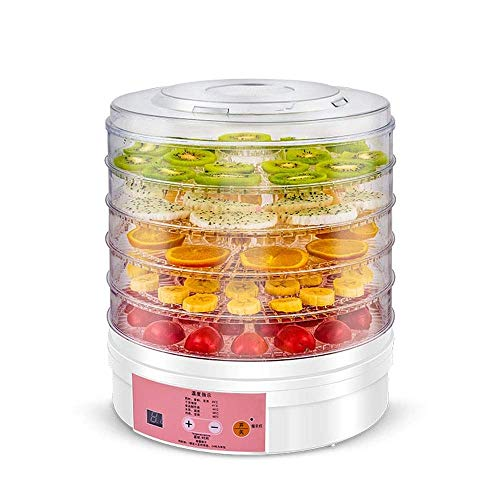 Fantastic Prices! HIZLJJ Food Dehydrator Fruit Dryer Machine Electric 5 Tier Food Preserver with Adj...