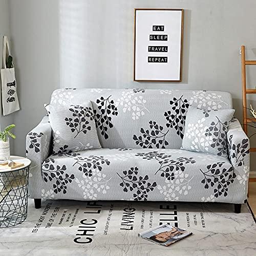 WXQY Funda de sofá para Sala de Estar Funda de sofá elástica Funda de sillón en Forma de L Funda de sofá Antideslizante con Todo Incluido Funda de sofá de Esquina A14 3 plazas