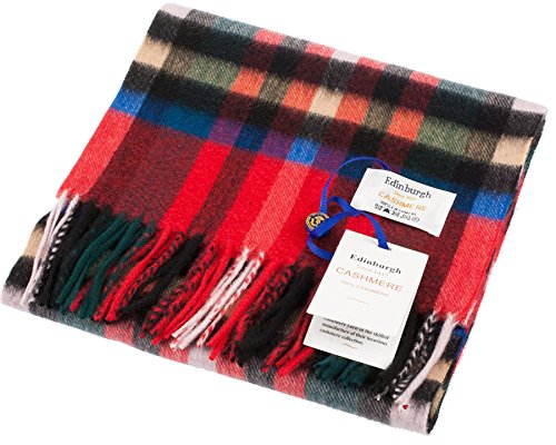 I Luv LTD Unisex Cashmere Scarf In Exploded Stewart Royal Tartan Design 26cm Wide