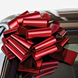 Lobyn Value Packs InstaBows Car Large Gift Pull String Bow with Suction Cup Holder Perfect for Christmas and Birthday Presents Measure 12 Inches (Red)